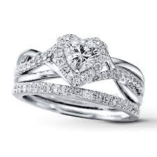 bridal and wedding sets bridal sets unique bridal sets rings kay diamond bridal set 7 8 ct tw heart shaped 14k white gold