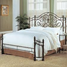 queen bed iron queen size bed frame bedroom scroll metal design