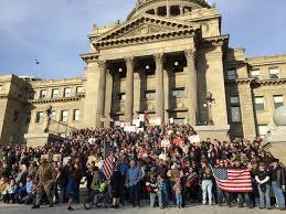 second amendment rally at idaho statehouse draws hundreds in