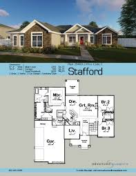 3 car garage dimensions 1 story traditional house plan stafford