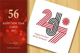 2017 happy new year greeting cards graphics creative market