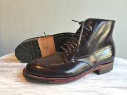 color 8 shell cordovan handsewn indy boot alden shoes of carmel