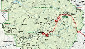 Map Of Yosemite Hike The John Muir Trail In Yosemite National Park My Yosemite Park