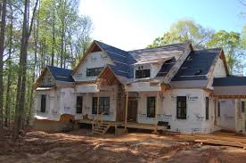 windows are in modern craftsman style home