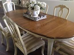 dining set table 6 splat back dining chairs leaves country french