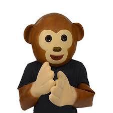 Latex Halloween Costume Monkey Mask Latex Animal Halloween Costume Funny Emoji Hear