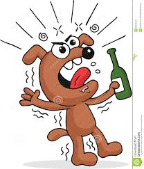 funny beer cartoon drunk dog stock image image 36218191