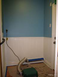 painting the laundry room and installing trim marilyn fenn decor