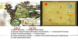 Time Map Wind Waker U0026 Ocarina Of Time World Maps Match Up Dorkly Post