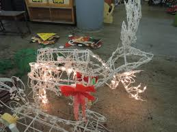 lot 2 light up moving outdoor deer decorations