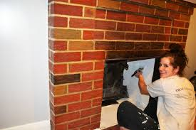 project stay at home mommy bye bye ugly red brick fireplace