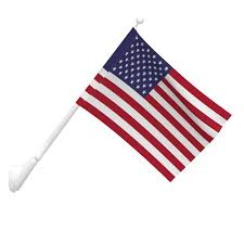 Embroidered American Flag 2 1 2ft X 4ft 1 Ply Polyester American Flag With Pole Sleeve
