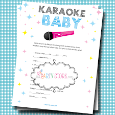 or boy baby shower games fun karaoke baby game printable