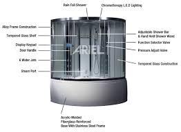 ariel steam shower whirlpool tub 59 x 59 x 89 da324hf3 ariel platinum steam shower whirlpool bathtub w 16 hydro massage jets aromatherapy