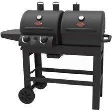 Backyard Grill 3 Burner Backyard Grill Dual Gas Charcoal Smoker Outdoor Bbq Propane Party