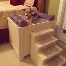 elevated dog bed with stairs beautiful stain michaelsala com