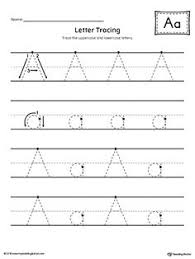 trace the letter a worksheet home pinterest