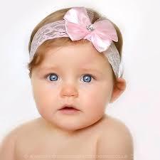 baby headbands uk baby pink lace headband with sparkly heart satin bow