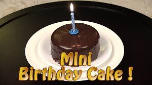 mini chocolate birthday cake