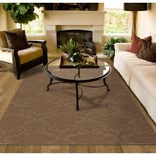 cut and loop patterned olefin area rug walmart
