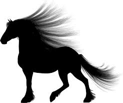 mustang horse silhouette clipart long haired horse silhouette