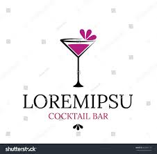 cocktail logo beautiful unusual logo cocktail bar vector stock vector 342661172