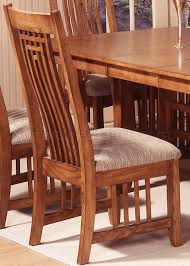 mission style dining room set oak finish casual dining room table w options