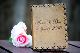 personalized leather guest book personalized leather guest book journal weddings country barn