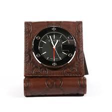 limited edition brown travel desk alarm clock watch ggc1