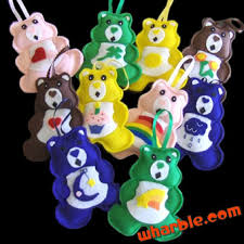care bears ornaments i these my made for me as a