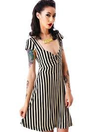 va va voom dresses sourpuss clothing vavavoom stripe dress dolls kill