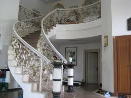 Stair Handrail Ideas Decoration Admirable Design Ideas Using Rectangular Brown Wooden