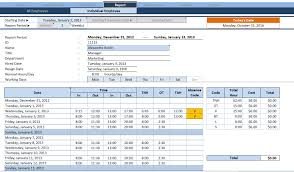 Time Tracking Spreadsheet Excel Free Free Employee Time Sheet Tracker Template