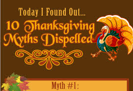 thanksgiving myths dispelled