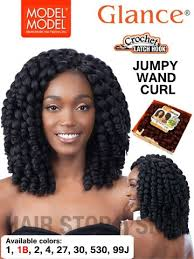 model model crochet hair model model glance 2x jumpy wand curl braid