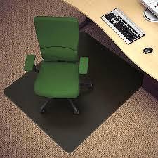 Chair Mat For Hard Floors Deflect O Black Vinyl Chair Mat For Hard Floors 45 W X 53 D By