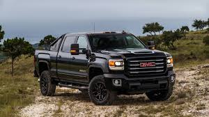 truck gmc chevrolet gmc sierra hd goes blackout all terrain package