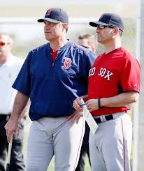 John Bench Red Sox Manager John Farrell Left And Bench Coach Torey Lovullo
