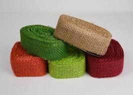 colored burlap ribbons 1 5 x 10 yards mix of 5 colormix1 5