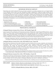 Operations Assistant Resume Free Orthopedic Physician Assistant Resume Example