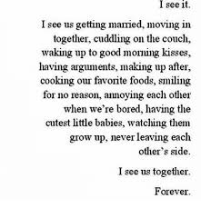 Moving In Together Meme - i see it i see us getting married moving in together cuddling on