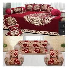 Washing Chenille Sofa Covers The Intellect Bazaar 500 Tc Chenille Sofa Cover And Diwan Set