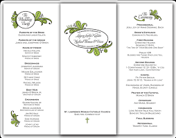 trifold wedding programs krista graphic design michael o brien s wedding day