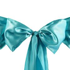 satin chair sash 6x106 turquoise 5pcs efavormart