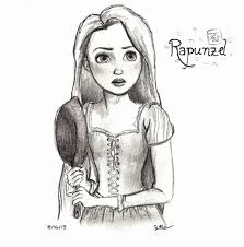 disney sketch rapunzel by kt grace on deviantart