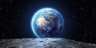 picture of moon and earth