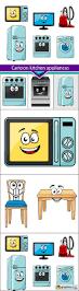 cartoon kitchen appliances 6x jpeg stock images web graphics