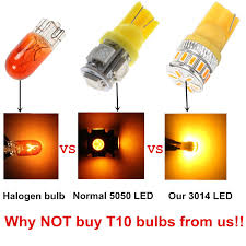 Led Light Bulbs For Travel Trailers by Amazon Com Alla Lighting T10 Wedge Amber Yellow 194 168 2825 175