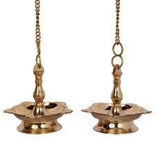 Hanging Lamps Brass Puja Hanging Lamps Decorative Diyas Puja Lamps