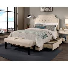 Queen Storage Beds With Drawers Republic Design House Audrey Tufted Ivory Queen Size Storage Bed